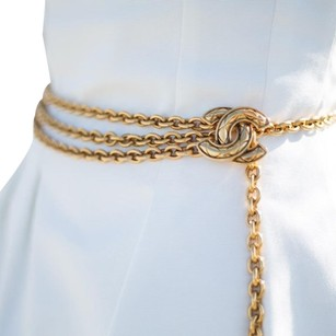 Chanel Chanel Go,d Plated Belt