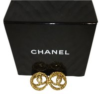 Chanel Authenic Vintage Chanel Logo Clip On Earrings