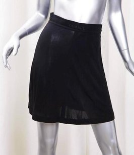 Chanel Boutique 97p Womens Basic Rayon Lightweight Mini 384 Skirt Black