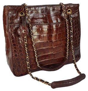Chanel Alligator Classic Cc Reissue Exotic Tote in Cognac