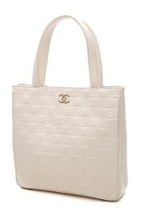 Chanel Leather Symbols Tote in Ivory