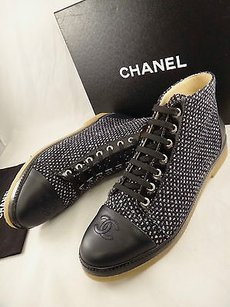 Chanel 15a Black Fantasy Blue Boots