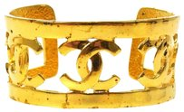 Chanel Auth CHANEL Vintage CC Logos Bangle Gold-Tone 95P France Accessories LP04346