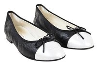 Chanel Pearly White Black Flats
