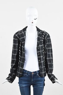 Chanel Charcoal White Black Jacket