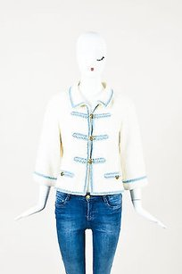 Chanel 07p Light Blue Cream Jacket