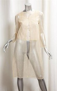 Chanel 00c Womens Tulle Ivory Jacket