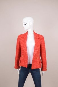 Chanel Redpink Tweed Long Jacket