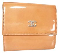 Chanel Bi Fold Wallet Patent Leather