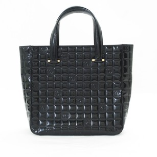 Chanel Black Camera Bubble Stitched Quilted Nylon Tote in blk
