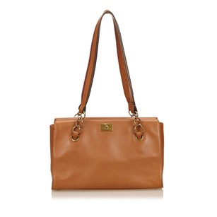 Chanel Brown Leather 6fchto001 Tote