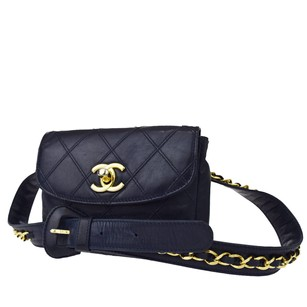 Chanel Bum Pouch Leather Cross Body Bag