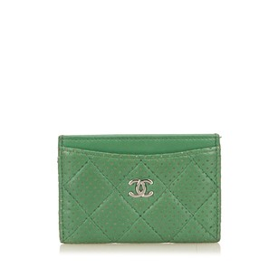 Chanel Card Green Leather Others 6dchcd001