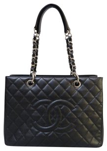 Chanel Caviar Grand Shopping Tote Gst Shoulder Bag