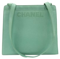 Chanel Caviar Leather Tote in Green