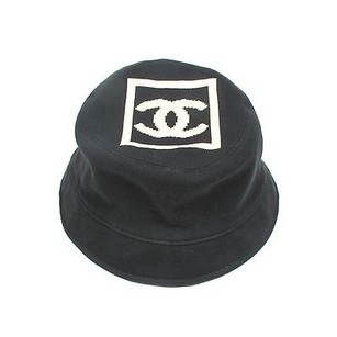Chanel Chanel Bucket Hat - Cc Logo Black White Cotton