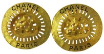 Chanel CHANEL CC Earrings Gold-Tone Clip-On France
