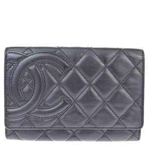 Chanel CHANEL CC Logos Cambon Bifold Leather Wallet Purse