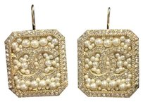 Chanel Chanel CC Strass Earrings with Crystals and Pearls in Gold