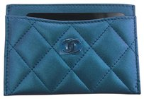 Chanel Chanel Classic Card Case Holder in Iridescent Purple Lambskin Leather