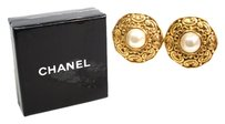 Chanel CHANEL Clip Earrings Metal/Artificial pearl