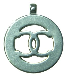 Chanel Chanel Cut-Out Logo Pendant Or Charm - SILVERTONE Small