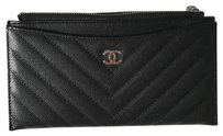 Chanel Chanel flat zipped wallet with receipt