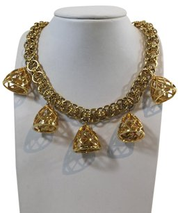 Chanel Chanel Gold Bell CC Vintage Necklace