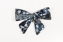 Chanel Chanel Navy Blue Sequin Bow Barrette
