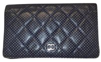 Chanel Chanel perforated bifold long wallet