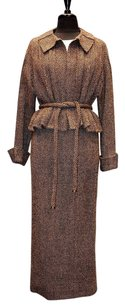 Chanel 100 Chanel 98 A Wool Multi Color Brown Suit Jacket Skirt
