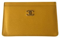 Chanel Chanel Yellow Card Case Holder