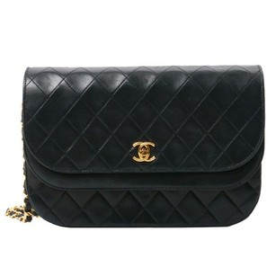 Chanel Vintage Lambskin Leather Quilted Shoulder Bag