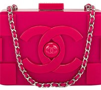 Chanel Fuchsia Pink Clutch