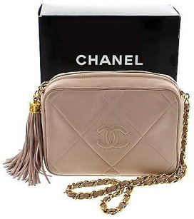 Chanel Gold With Pink Clutch