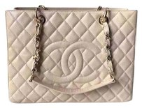 Chanel Discontinued Gst Tote in Beige