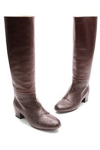 Chanel Dark Leather Mix Brown Boots
