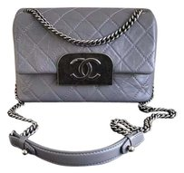 Chanel Gray Flap Shoulder Bag