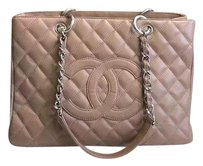 Chanel Gst Tote in Salmon pink
