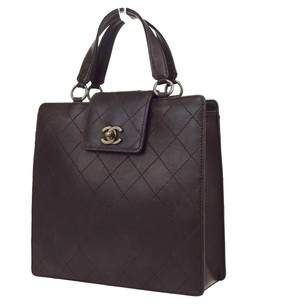 Chanel Hand Leather Tote in Brown