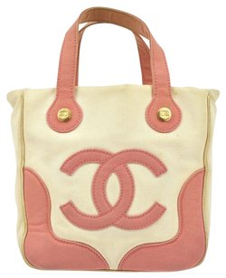 Chanel Hand Tote in Pink, White