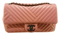 Chanel Lambskin Chevron Cross Body Bag