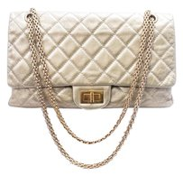 Chanel Lambskin Quilted Chain Leather Metallic Shoulder Bag