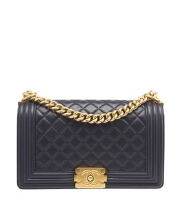 Chanel Le Boy Lambskin Shoulder Bag