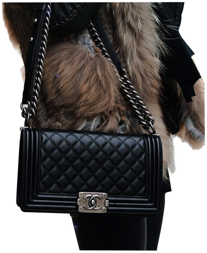 Chanel Black Lambskin Shoulder Bag - Tradesy : black chanel quilted bag - Adamdwight.com