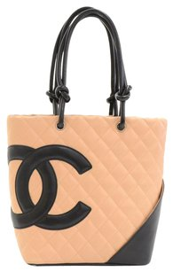 Chanel Leather Hand Tote in Beige