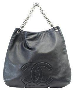 Chanel Leather Chain Hobo Bag