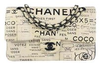Chanel Limited Edition Hand Painted Medium Double Flap Shoulder Bag