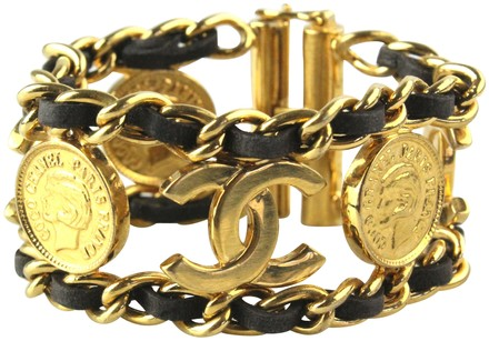 Chanel Logo and Coin Bracelet