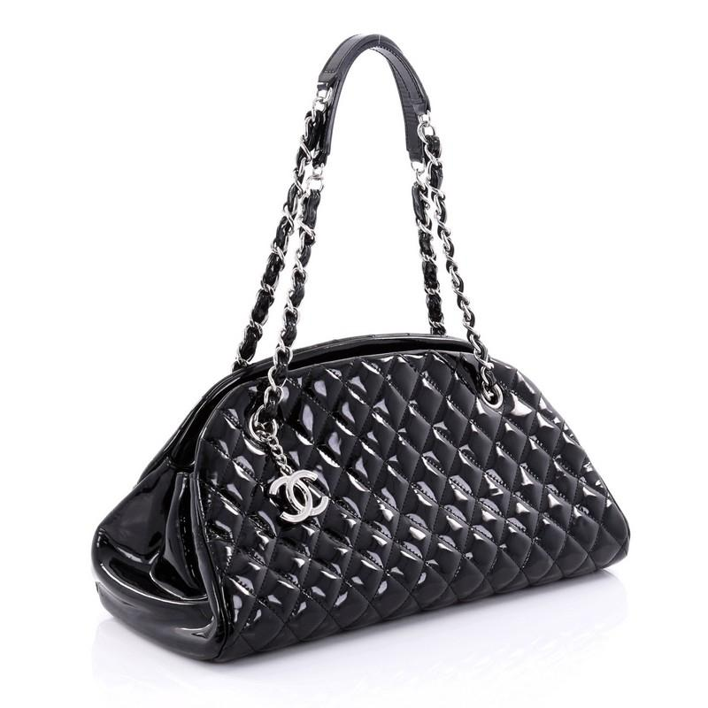Chanel Black Patent Leather Mademoiselle Shoulder Bag